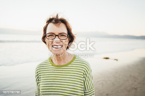 Portrait of senior women on the beach