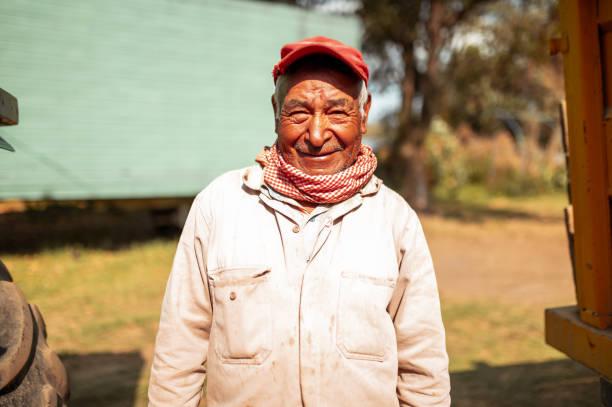 Portrait of senior worker stock photo