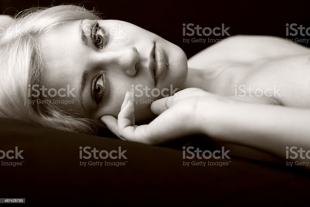 Portrait Of Sensual Woman royalty-free stock photo