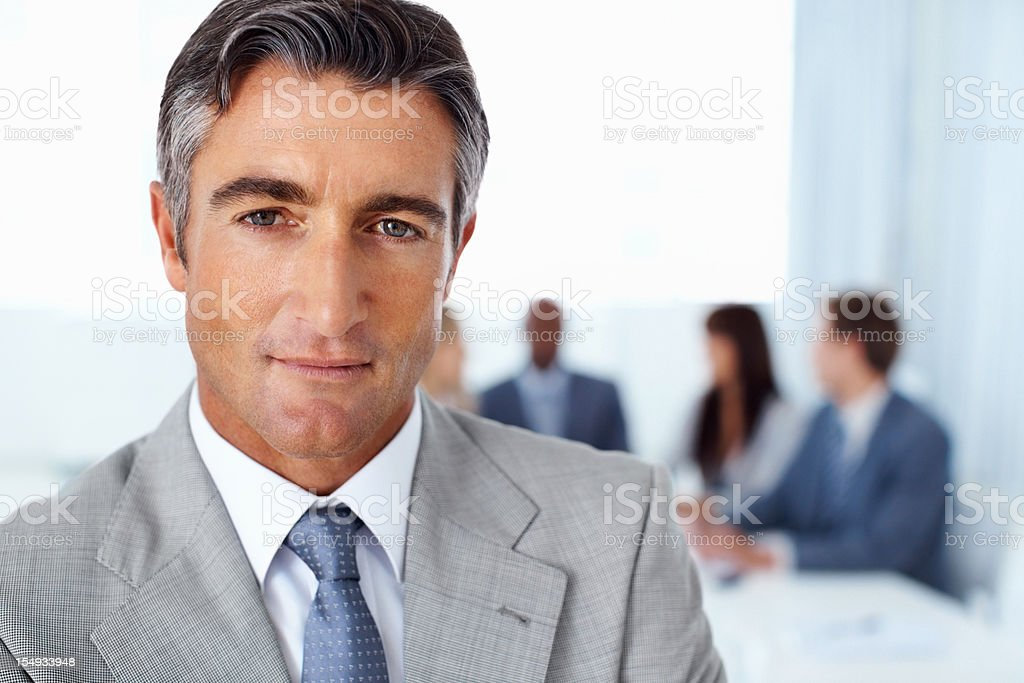 Portrait of serious business man royalty-free stock photo