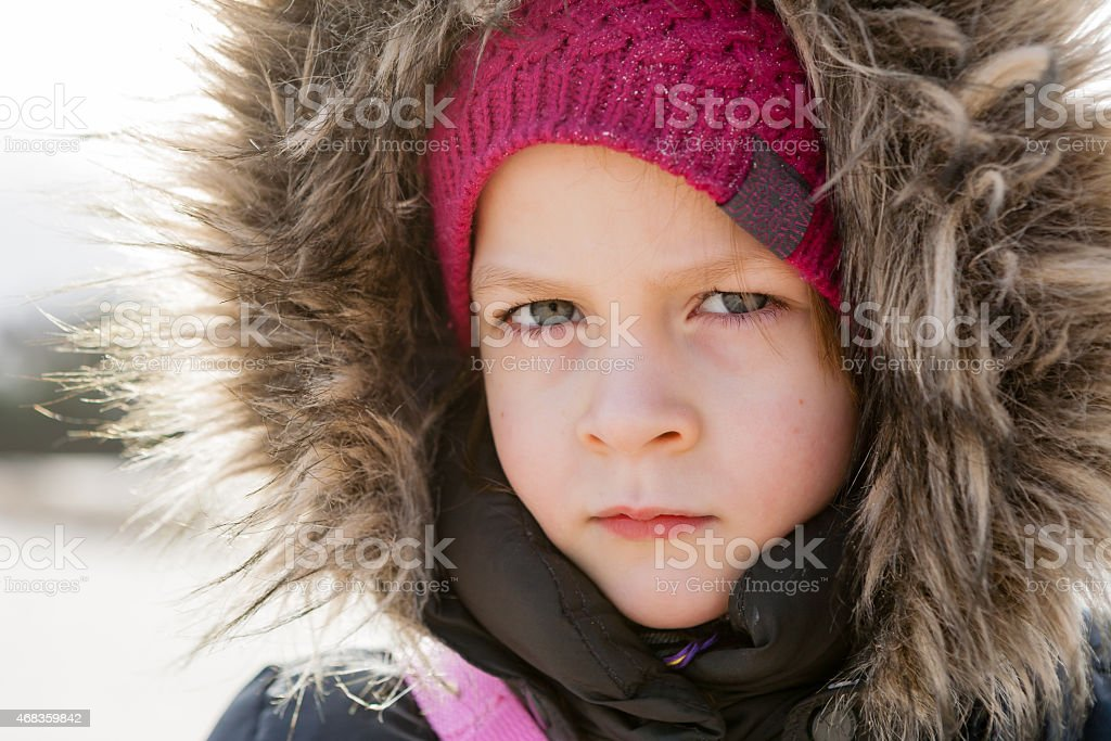 portrait of serious girl royalty-free stock photo