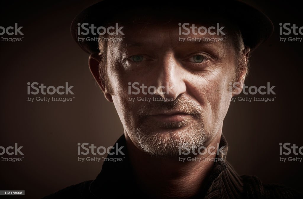 portrait of serious man royalty-free stock photo