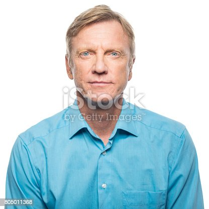 istock Portrait of serious mid adult man 805011368