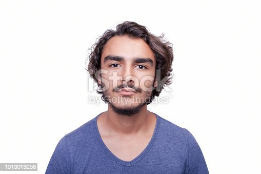 istock Portrait of serious young man 1013019256