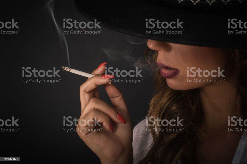 Rauchen Sexy Zigaretten Frauen Schlechte Haut