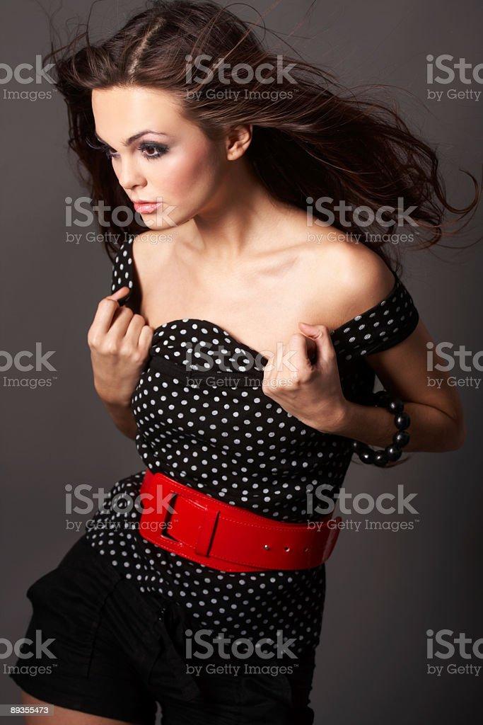 Portrait of sexy woman royalty free stockfoto