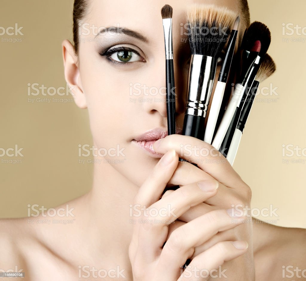 portrait of sexy woman with beautiful eyes and lips royalty-free stock photo