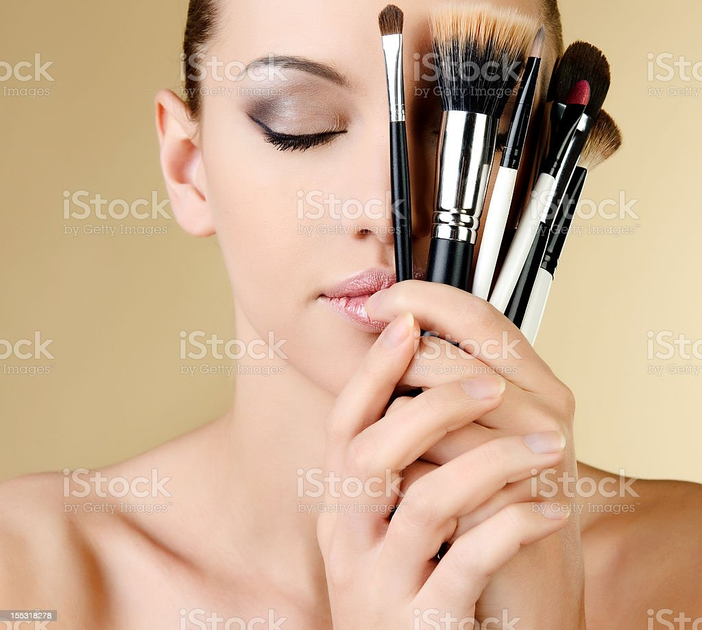 portrait of sexy woman with beautiful eyes royalty-free stock photo