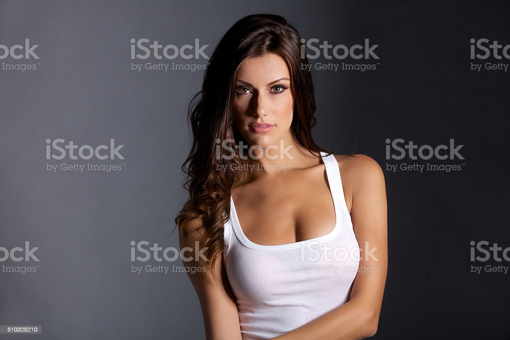 Portrait of Sexy Young Woman stock photo