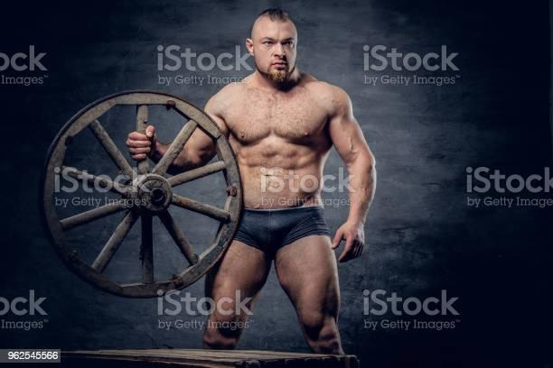 Foto de Retrato De Homem Escravo Muscular Sem Camisa e mais fotos de stock de Abdome