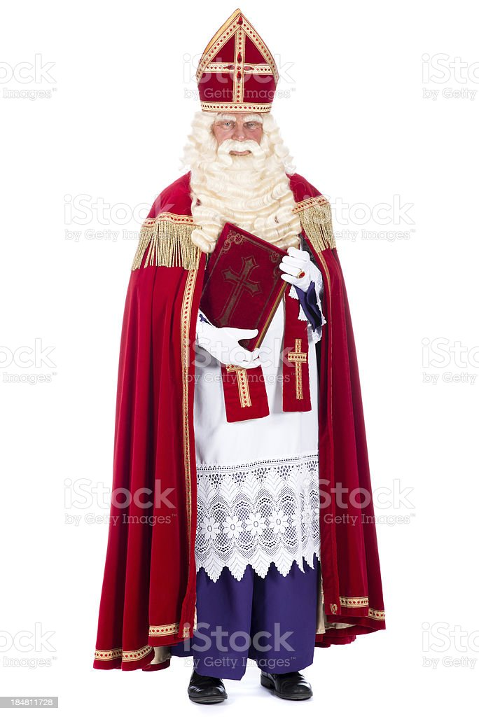 Portrait of Sinterklaas stock photo