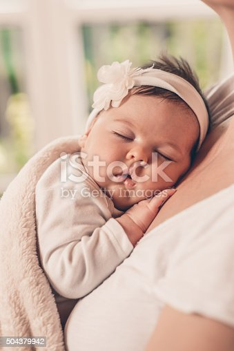 istock Portrait of sleeping baby 504379942