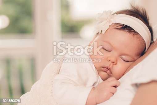 istock Portrait of sleeping baby 504380028
