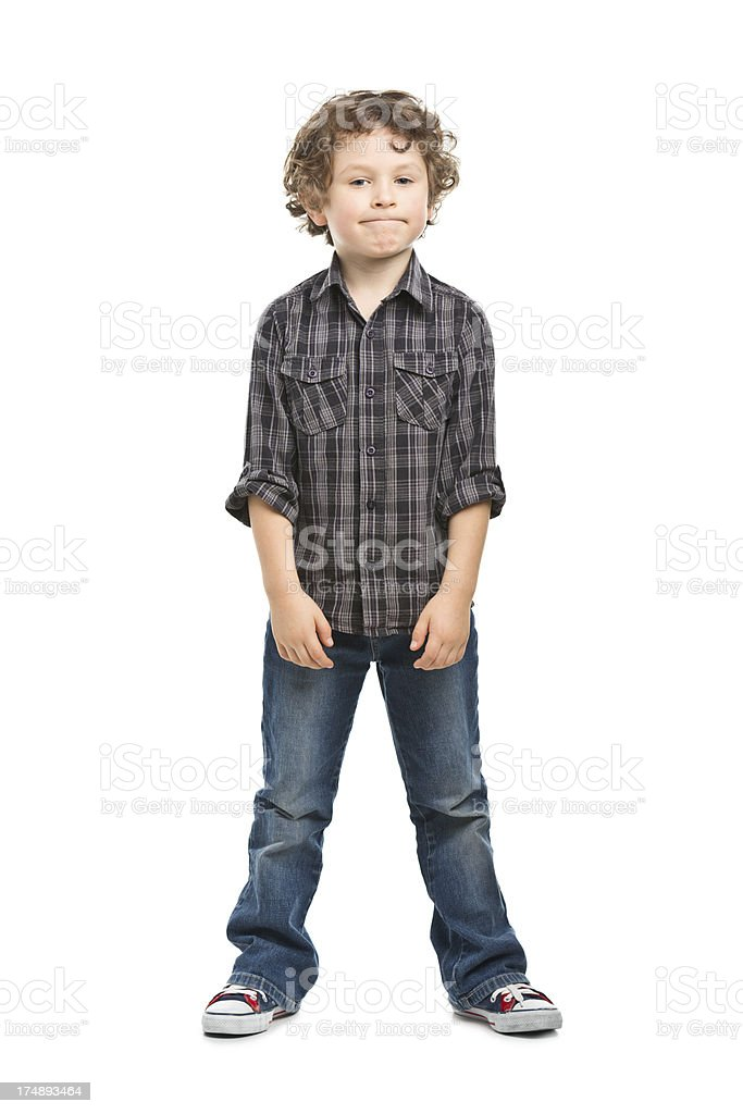 portrait of small boy in shirt royalty-free stock photo