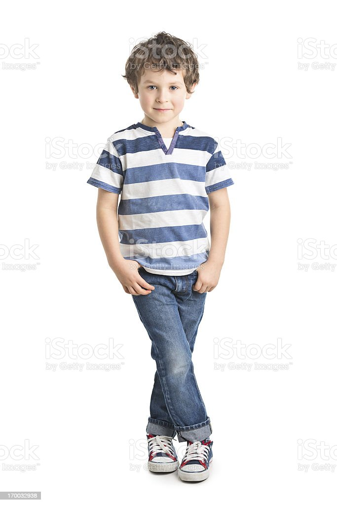 portrait of small boy stock photo