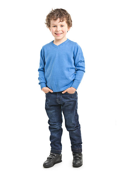 portrait of small boy stock photo