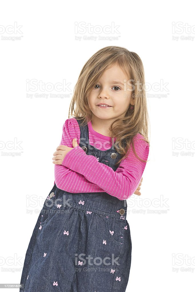 portrait of small girl royalty-free stock photo
