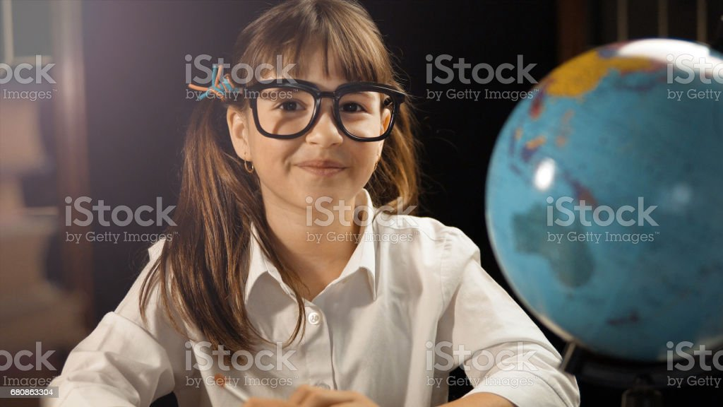Portrait of Smart Schoolgirl royalty-free stock photo