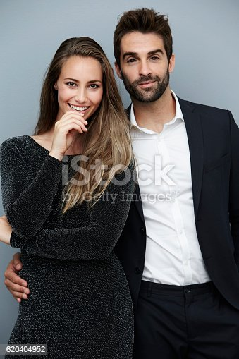 621502402 istock photo Portrait of smartly dressed couple 620404952