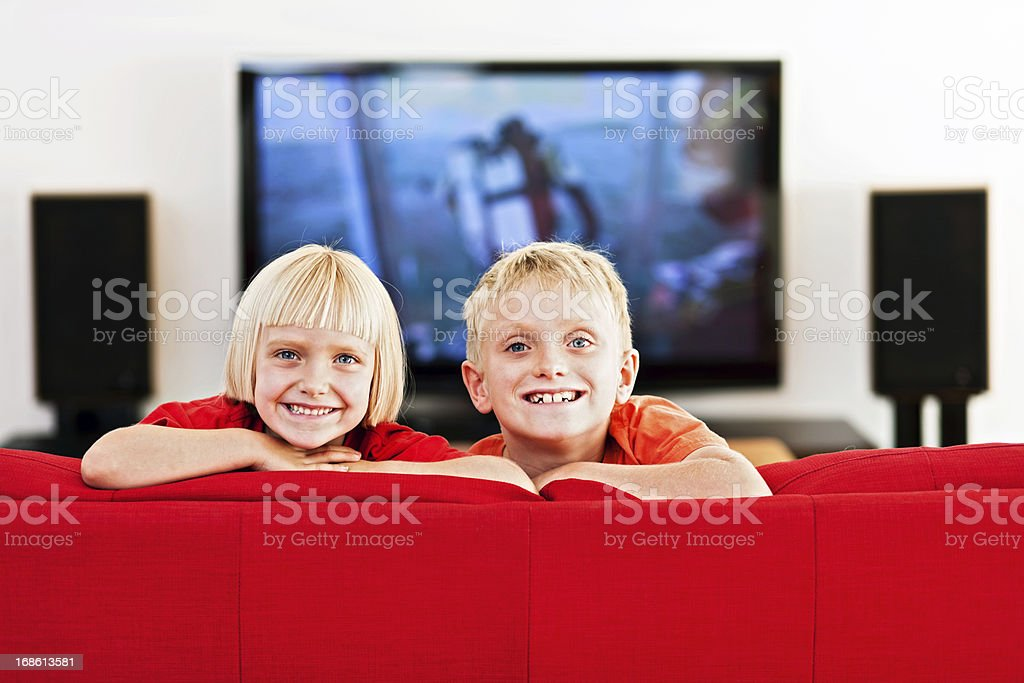 Portrait Of A Brother And Sister Stock Photo - Download