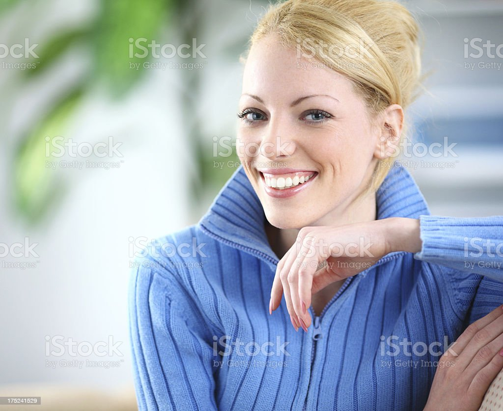 Portrait of smiling blond . royalty-free stock photo