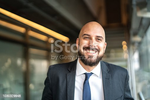 istock Portrait of Smiling Business man 1030329948