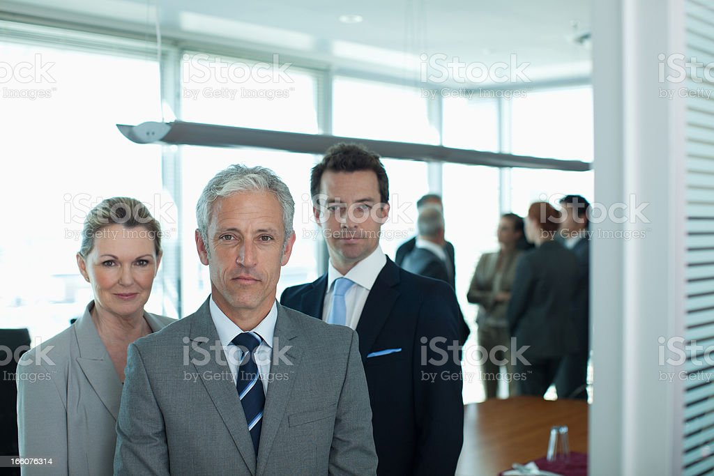 Portrait of smiling business people in conference room royalty-free stock photo