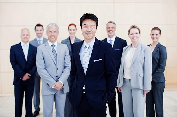 笑顔のビジネスの人々のポートレート ストックフォト