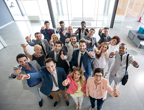 istock Portrait of smiling business people 504538792
