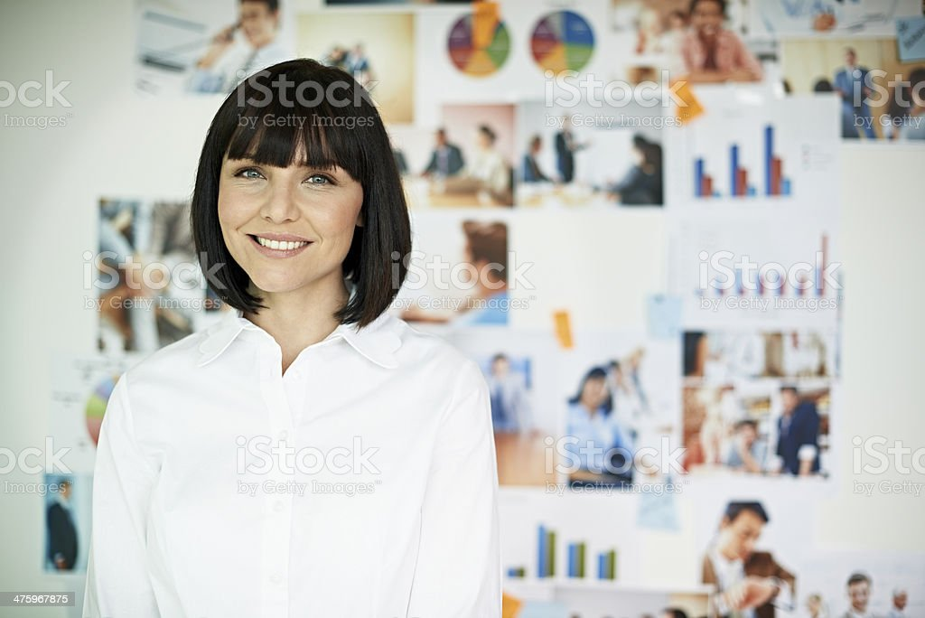 Portrait of smiling business woman stock photo