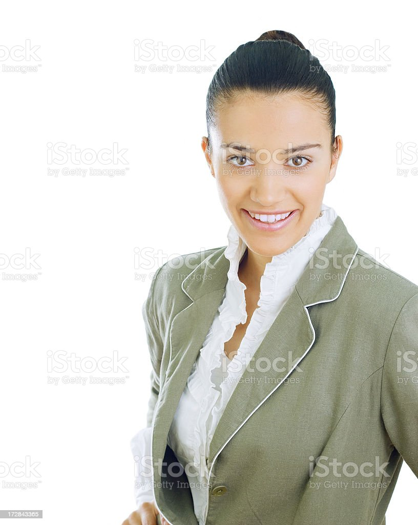 portrait of smiling businesswoman royalty-free stock photo