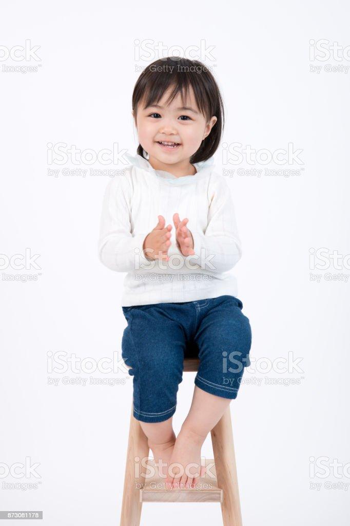 笑顔の子供の肖像画 ストックフォト