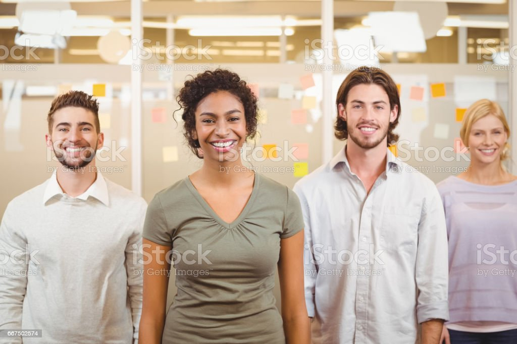 Portrait of smiling colleagues in office foto stock royalty-free