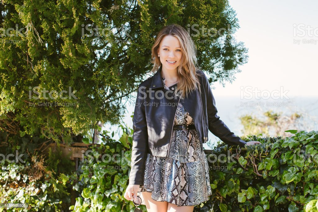Portrait Of Smiling Curvy Blonde Woman Stock Photo Download Image Now Istock