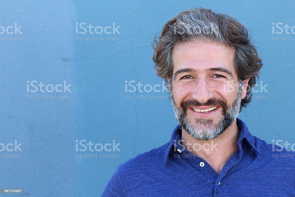 Portrait of smiling elegant mature man stock photo