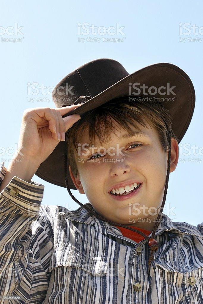 Portrait of smiling farm boy royalty-free stock photo