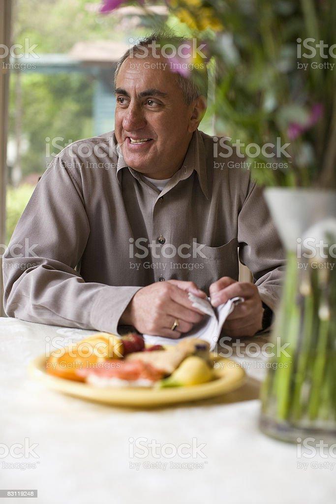 portrait of smiling gemtleman royalty free stockfoto