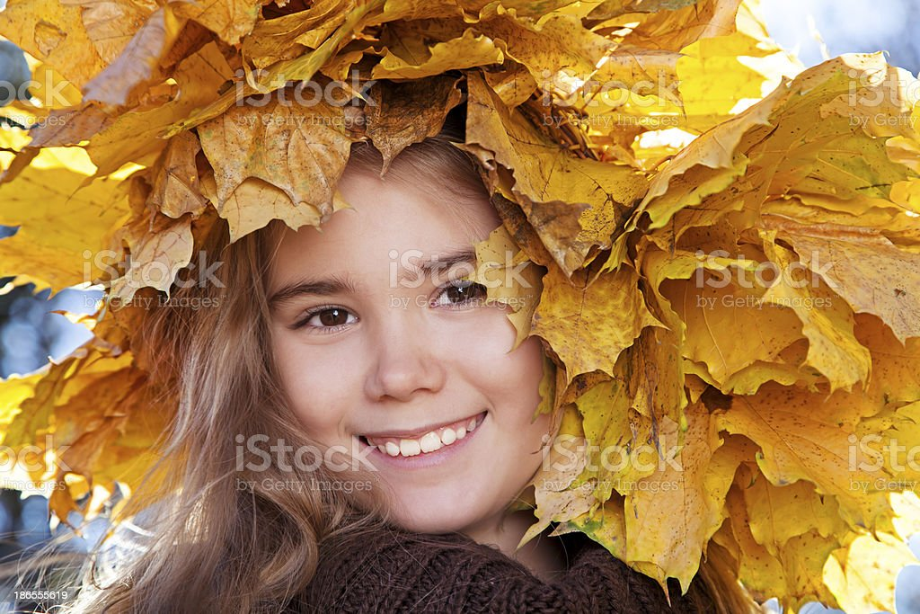 Portrait of smiling girl royalty-free stock photo