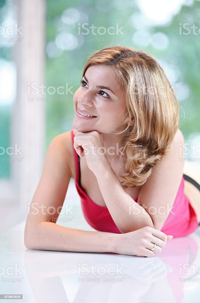 Portrait of smiling girl. royalty-free stock photo
