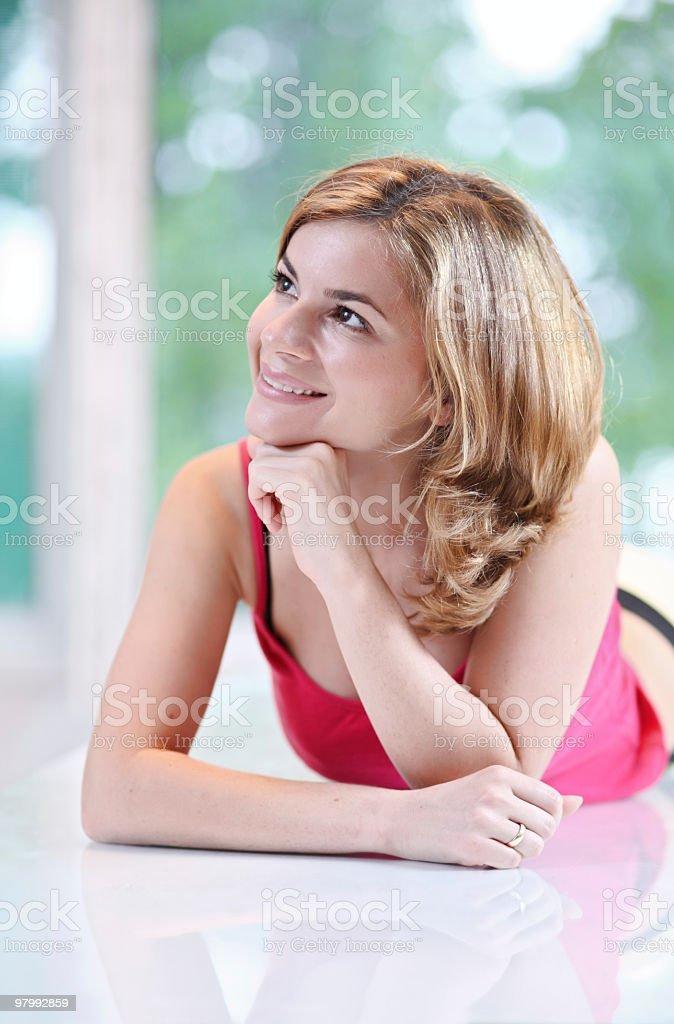 Portrait of smiling girl. royalty free stockfoto