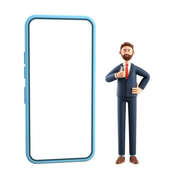 Portrait of smiling happy businessman with big phone showing gesture picture id1224958024?b=1&k=6&m=1224958024&s=612x612&w=0&h= 0nqldzrhyilfztp5r i5iaubxykxdvi xbuytgceh0=