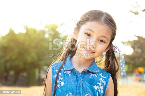 portrait of smiling little girl  face