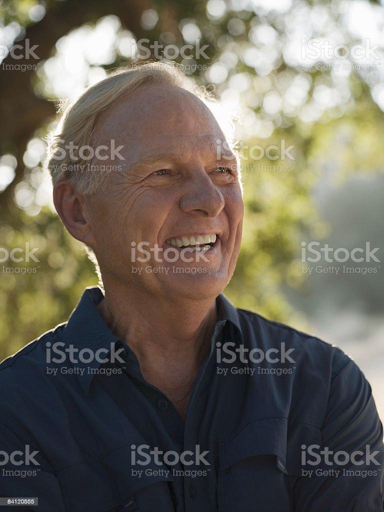 Portrait of smiling mature man.  royalty free stockfoto