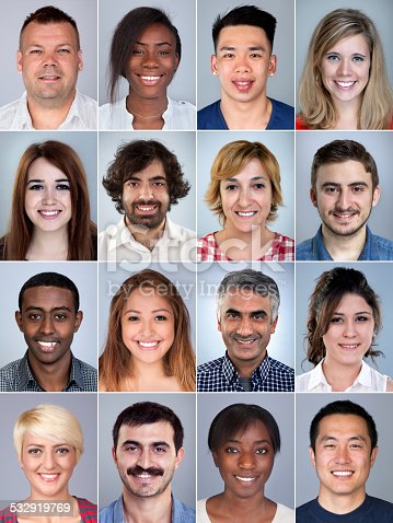 istock Portrait of smiling multiethnic people 532919769