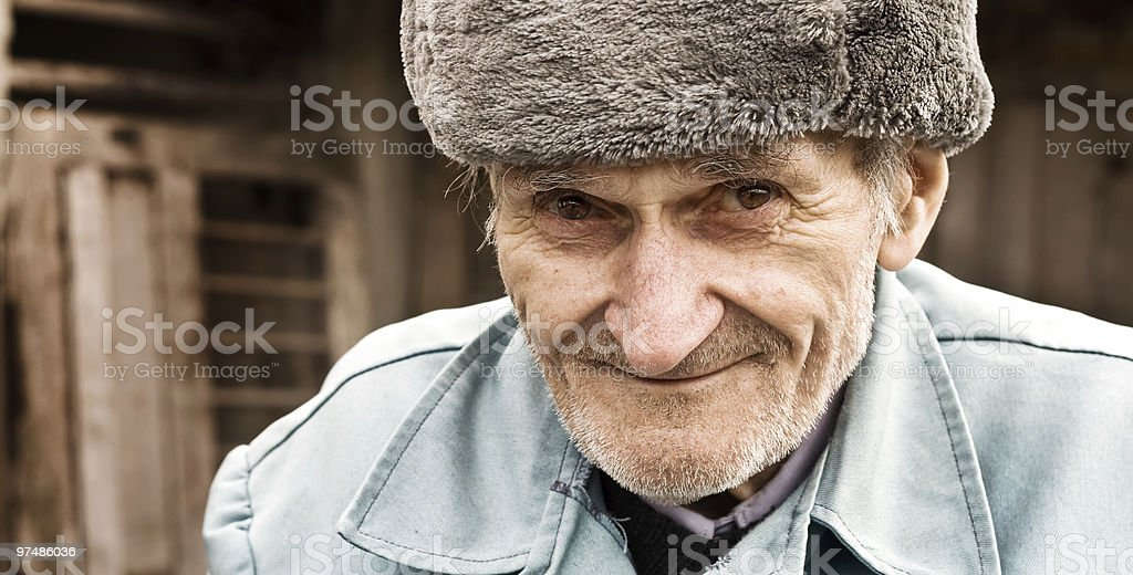 Portrait of smiling old man royalty-free stock photo