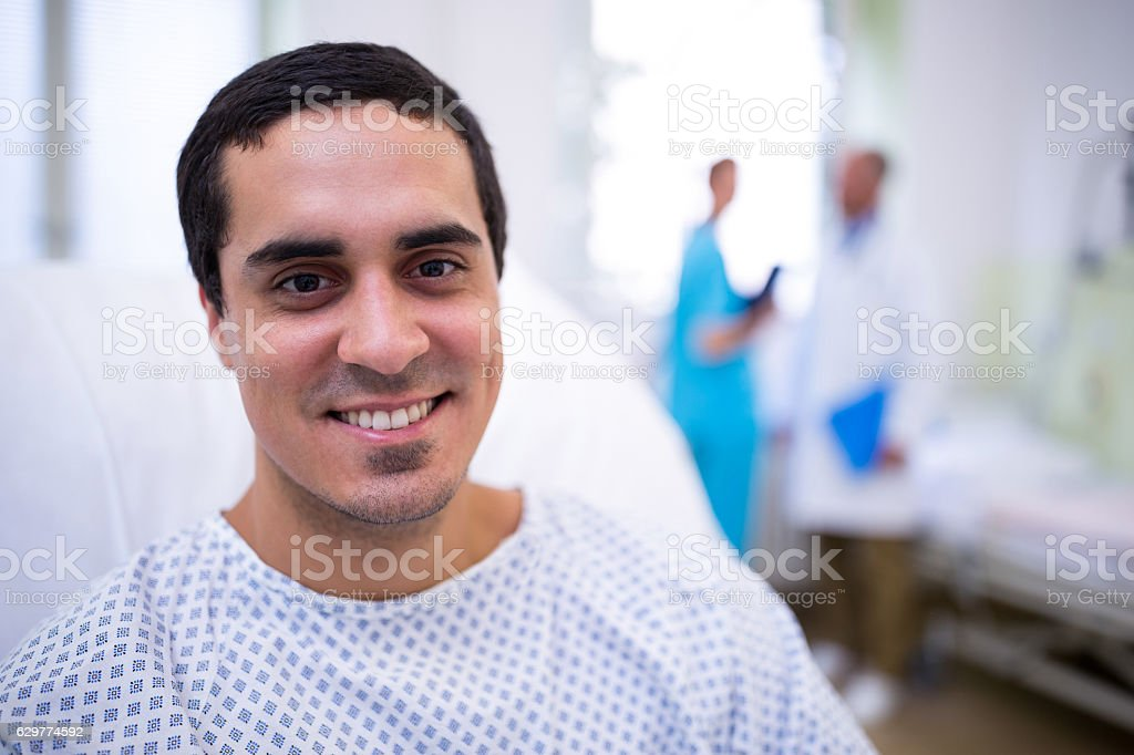 Portrait of smiling patient - foto de stock