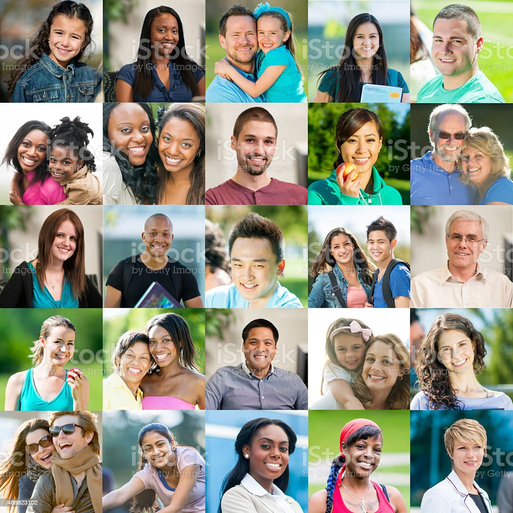 Portrait of smiling people stock photo