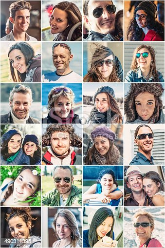 istock Portrait of smiling people 490311395