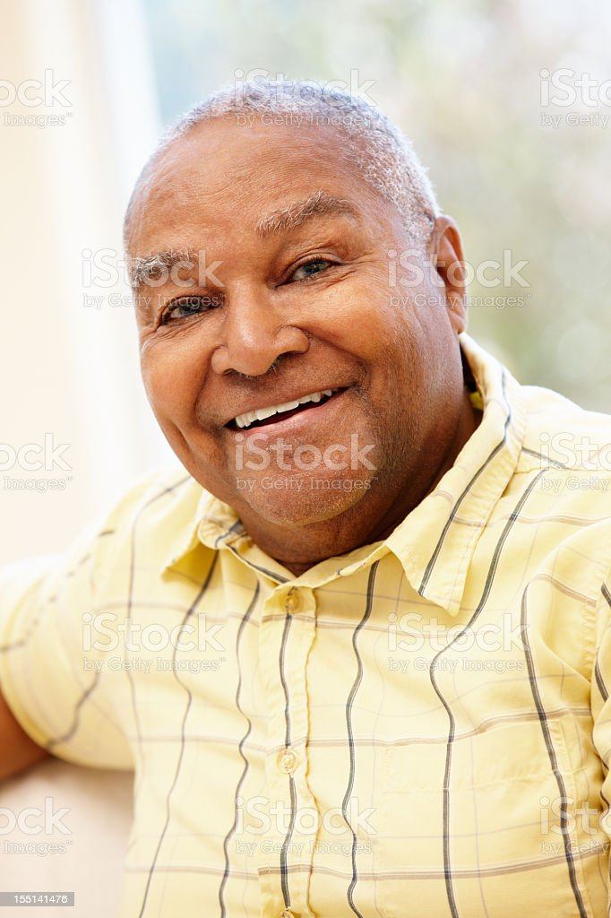 Portrait of smiling senior African-American man royalty-free stock photo