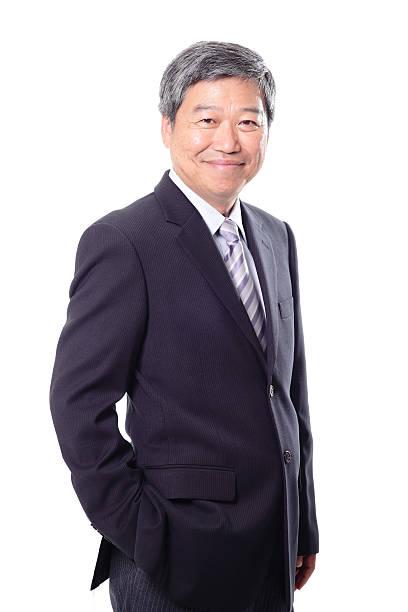 Porträt eines lächelnden senior business Mann – Foto